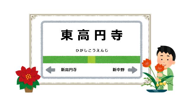 東高円寺駅周辺の花屋を紹介する記事のアイキャッチ画像